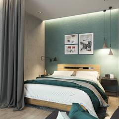 Квартира-студия для молодой пары: Спальни в . Автор – Solo Design Studio,