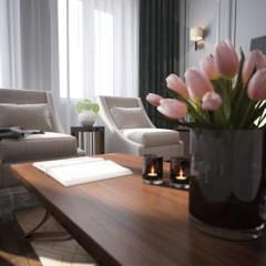Классика может быть современной: Гостиная в . Автор – Solo Design Studio