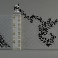 Кованые забор, ворота и калитка: Сады в . Автор – Мастерская ландшафта Дмитрия Бородавкина