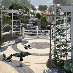 Пергольные скамейки: Сады в . Автор – Мастерская ландшафта Дмитрия Бородавкина
