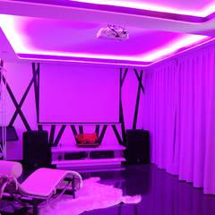 Vivienda en Getafe, Madrid: Salas multimedia de estilo ecléctico de Arquitectura de Interior