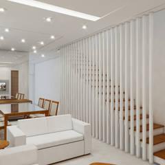 Residência 4x22: Corredores e halls de entrada  por Merlincon Prestes Arquitetura