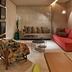 Decora Líder Brasília - Apartamento Urbano: Salas de estar  por Lider Interiores