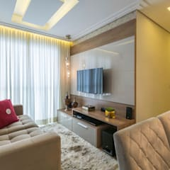 Obra Santo Andre: Salas de estar  por Silvana Borzi Design