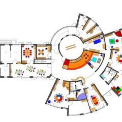 Erdgeschossgrundriss mit Möblierung:  Schulen von architekturbüro civitas  Dr. Regina Bolck & Rüdiger Reißig