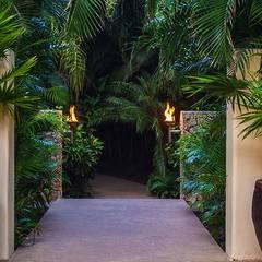 Casa Aramara: Jardines de estilo topical por BR  ARQUITECTOS