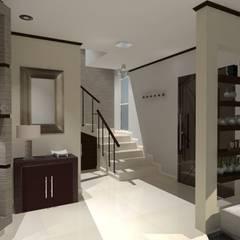 PROYECTO SAYAVEDRA: Pasillos y recibidores de estilo  por AurEa 34 -Arquitectura tu Espacio-