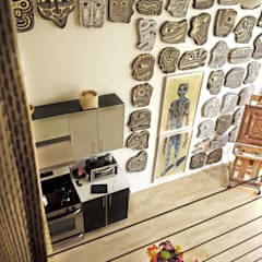 Loft LA: Salas de estilo  por Juan Carlos Loyo Arquitectura , Moderno
