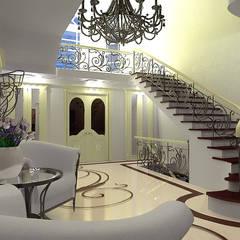 Холл загородного дома в стиле Ар-деко: Коридор и прихожая в . Автор – ООО 'Бастет'