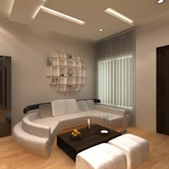 Living room by Indeera Builders Private Limited