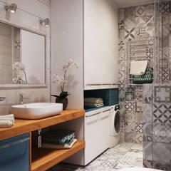 Apartament Verbi : Ванные комнаты в . Автор – Polygon arch&des, Минимализм Плитка