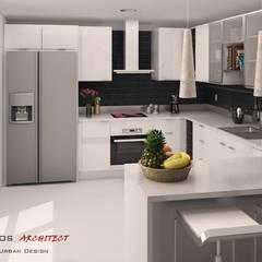 Residencia Colina da Asseca: Cozinhas modernas por Mendonça Santos Arquitetos & Associados