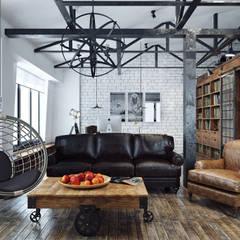Офис на Мясницкой: Офисные помещения в . Автор – Хороший план, Лофт