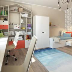 Apartment A: Детские комнаты в . Автор – Bovkun design, Скандинавский