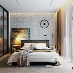 Bedroom by Solo Design Studio, Industrial Bricks