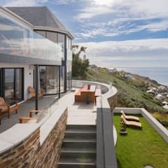 Gwel-An-Treth, Sennen Cove, Cornwall:  Terrace by Laurence Associates