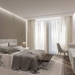 Квартира в Хамовниках: Спальни в . Автор – Bezmenova
