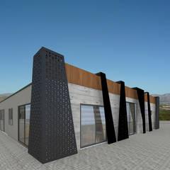 nihle iç mimarlık – MAS 1 İDARİ BİNA:  tarz Ofis Alanları