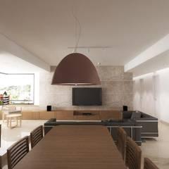 Lomas de La Alameda: Comedores de estilo  por RRA Arquitectura,