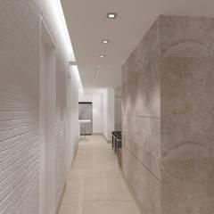 Lomas de La Alameda: Pasillos y vestíbulos de estilo  por RRA Arquitectura