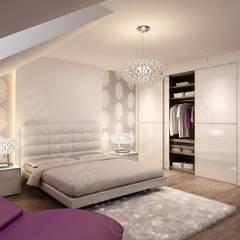 Aranżacja Intellio desingers - sypialnia: styl , w kategorii Sypialnia zaprojektowany przez Intellio designers