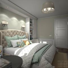 Дизайн интерьера спальни в двухэтажном доме, 120 кв. м, Московская область: Спальни в . Автор – Ad-home