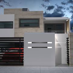 Casa KR - Querétaro: Casas de estilo  por NUV Arquitectura