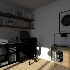 Espaces à vivre doux & lumineux: Bureau de style de style Minimaliste par Sandia Design