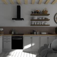 Ferme tarnaise : Cuisine de style  par Sandia Design