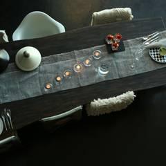 Catarina´s house: Salas de jantar  por COISAS DA TERRA