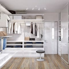 Dressing room by 1+1 studio, Minimalist