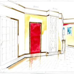 Клиника Китайской медицины в Москве.: Коммерческие помещения в . Автор – Архитектурно-дизайнерская компания Сергея Саргина