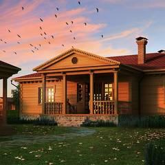 Wooden houses.: Дома в . Автор – Design studio of Stanislav Orekhov. ARCHITECTURE / INTERIOR DESIGN / VISUALIZATION.,