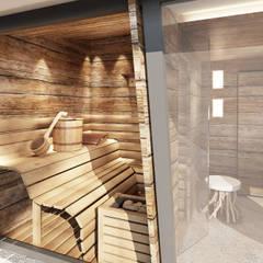 rendering interni stile rurale: Spa in stile  di Avogadri simone archi3d