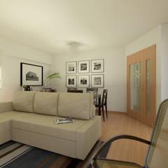 Apartamento Ikea: Salas de estar  por José Tiago Rosa,Minimalista