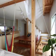 風が通り抜ける家 : アトリエグローカル一級建築士事務所が手掛けたダイニングです。