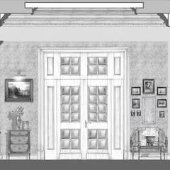 Загородный дом в Серебряном бору.: Окна в . Автор – Архитектурно-дизайнерская компания Сергея Саргина