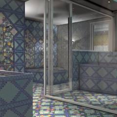 HAMMAM L'ARGAN : QUANT L'ORIENT S'INVITE DANS L'OISE (60): Bars & clubs de style  par DEYDIER WILFRID ARCHITECTURE