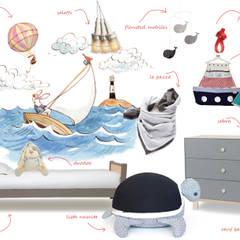 Cameretta ispirata al mare : Stanza dei bambini in stile  di amisuradibimbo