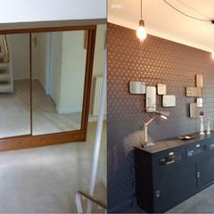 UN INTÉRIEUR RÉINVENTÉ: Couloir et hall d'entrée de style  par UN AMOUR DE MAISON,