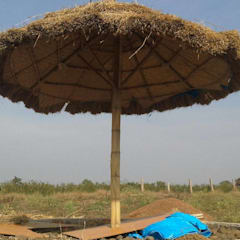 Bamboo Umbrella:  Event venues by Maqaam Space Designs