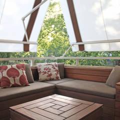 Terraza Reformada en Pedralbes, BCN - Zona Chillout. : Terrazas de estilo  de Daifuku Designs