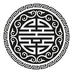 Wandtatoo Shou Symbol:  Wände von Der Lebensfreude Laden