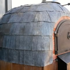 Roof terrace oven:  Terrace by wood-fired oven