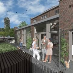 wonen in de ijzergieterij:  Terras door architectenburo frans van roy
