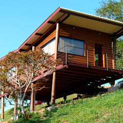 منازل تنفيذ Cabana Arquitetos, ريفي خشب Wood effect