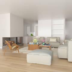 Living room by ESTUDIO BAO ARQUITECTURA