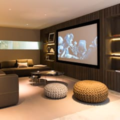 Media room by Nash Baker Architects Ltd, Modern