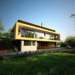 Casa Hernandez: Casas de estilo mediterráneo por Lápiz De Sueños