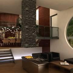 TREVINO CHABRAND Taller de Arquitectura: Salas de estilo  por TREVINO.CHABRAND   Architectural Studio